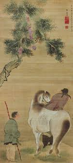 white horse and grooms-Yosa Buson