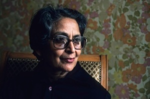 PARIS - MARCH 30: Indian writer Amrita Pritam poses on March 30, 1983 in Paris,France. (Photo by Ulf Andersen/Getty Images)