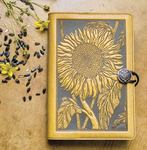 Leather-Journal-Cover-Sunflower