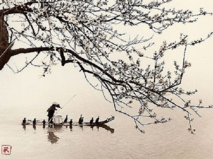 a-chinese-fisherman-crossing-the-water-with-his-boat